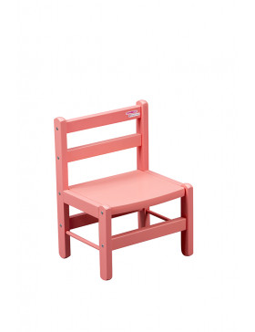 Chaise basse laquée rose