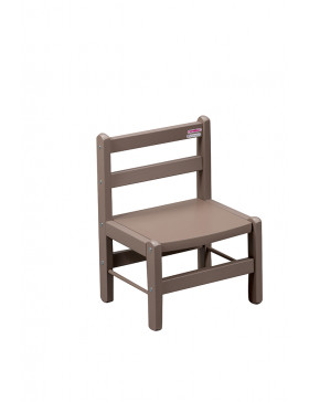 Chaise basse laquée taupe